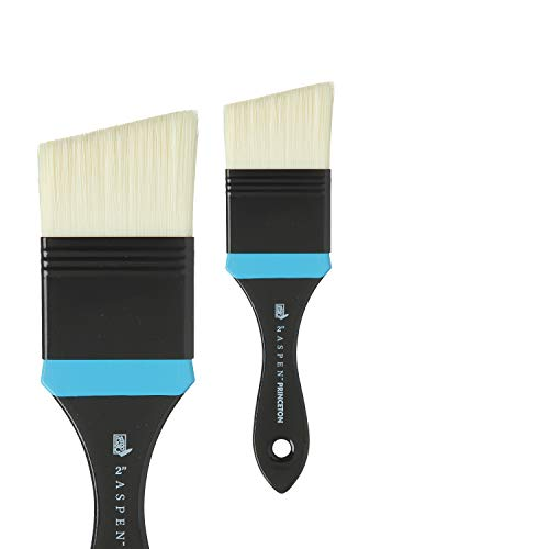 Princeton Aspen, Series 6500, Synthetic Paint Brush for Acrylics and Oils, Angular Mottler, 2'