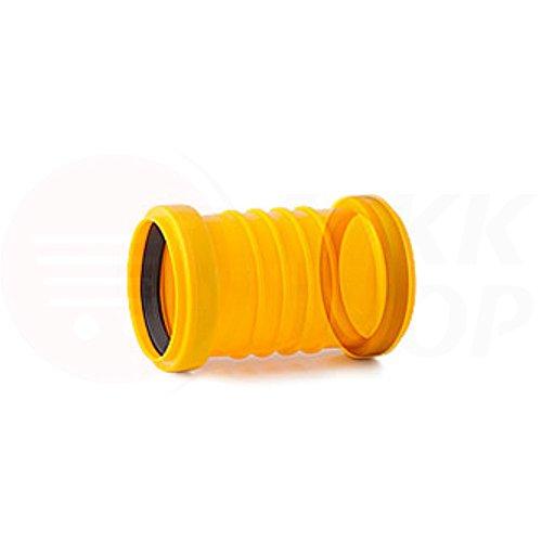 Tube de drainage coudé en T - 50 mm de diamètre - Bouchon ou réducteur de 72 à 100 mm de diamètre - tube de fond de canal haute température - Clapet anti-retour - 45 °, 67 °, 90 °, Verbindungsmuffe, Ø 50 mm (MKK-16)