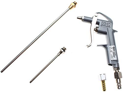 BGS 3215 | Druckluft-Ausblaspistole | Alu-Druckguss | mit 3 Düsen 25 - 100 - 200 mm | Druckluftpistole