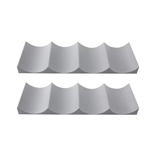 BESTonZON 2 stücke weinregal Kunststoff europäischen Stil weinhalter Display Matte veranstalter für kühlschrank speisekammer küchenarbeitsplatten (zufällige Farbe)
