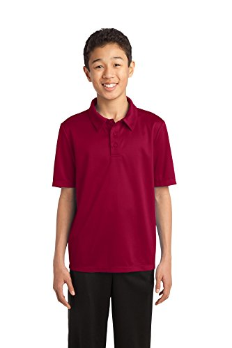 Port Authority Youth Silk Touch Performance Polo. Y540 Maroon S