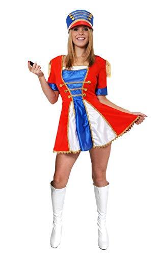 I LOVE FANCY DRESS LTD Disfraz DE Cascanueces para Mujer Conjunto TEMATICO DE Navidad con Falda MULTICOLORIDA Y Sombrero MULTICOLORIDO con Detalles Dorados (S)