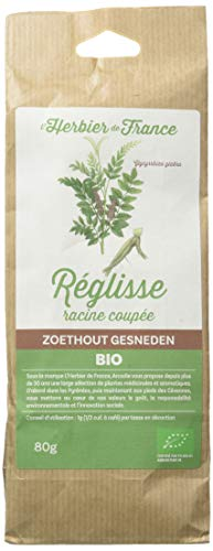 L'herbier De France Réglisse Racine Coupé Bio Sachet Kraft 80 G