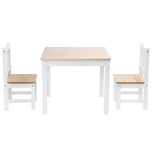 Ausla Esstisch, enthält einen Esstisch und 2 Stühle Esstisch-Set mit 1 Esstisch und 2 Stühlen für Kitchen Pub, Restaurant(One Table and Two Chairs, White)