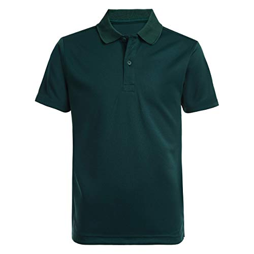 Nautica Boys' Big School Uniform Short Sleeve Performance Polo, Hunter, Medium-10/12