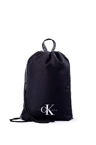 CALVIN KLEIN JEANS - Black nylon bag with logo