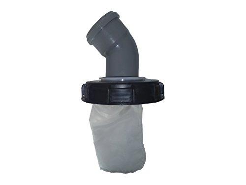 Couvercle IBC avec filtre en nylon lavable pour réservoir à eau de pluie IBC 1000 L - Excellente qualité 160mm 45 Grad Bogen