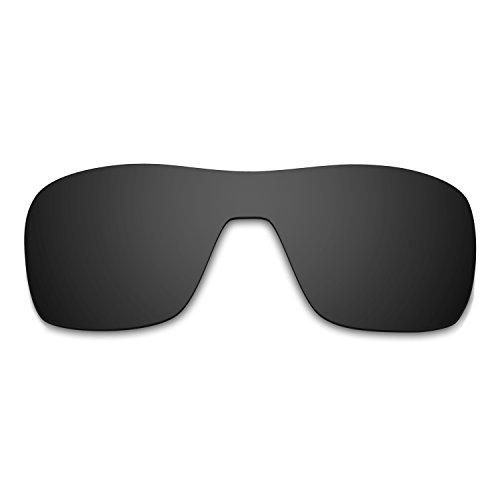 HKUCO Mens Replacement Lenses For Oakley Turbine Rotor Sunglasses Black Polarized