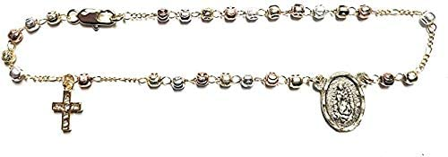 3Tone GP Rosary Guadalupe Anklet 10