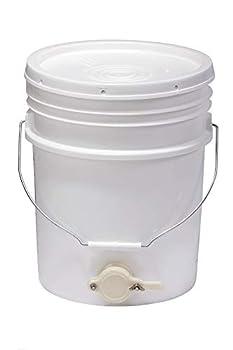 Little Giant Plastic Honey Bucket Bucket with Honey Gate for Beekeeping  5 Gallon   Item No BKT5