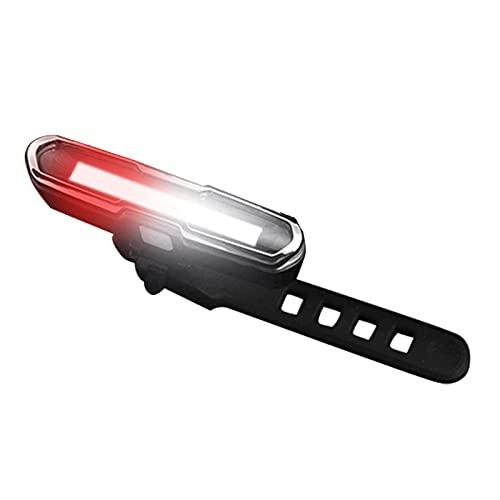 Honeyhouse Luz trasera de bicicleta recargable por USB, ultra brillante, impermeable, linterna de seguridad rojo/blanco/azul con 5 modos para ciclismo nocturno y correr (rojo y blanco)