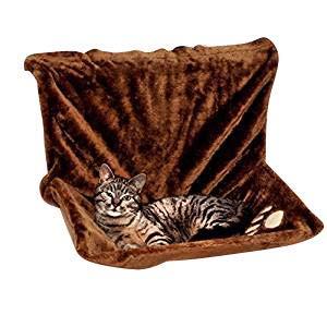animal-design Heizkörperliege, Heizkörpermulde, Katzenliege, Katzenhängematte in beige und braun (braun)