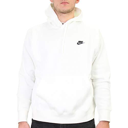 Nike Herren Sportswear Club Fleece Pullover Hoodie, White/White/Black, 2XL