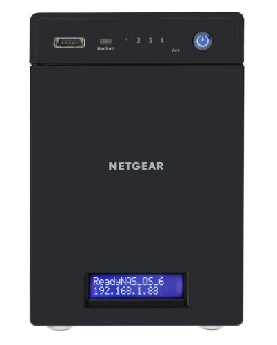 NETGEAR RN10441D-100EUS ReadyNAS 104 NAS-System 4TB (8,9 cm (3,5 Zoll), 4-Bay, SATA II, RAID 0/1/5/10, 2x USB 3.0)