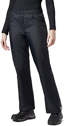 BenBoy Pantalones Impermeables para Mujer Trekking Pantalones de la Lluvia de Respirable Montaña Escalada Senderismo Softshell YK5411W-Black-L