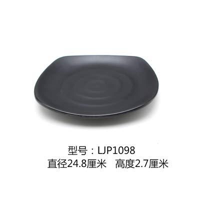 Plaque en plastique Noir Sushi Buffet Grill Carré givré Art Vaisselle, Ljp1098