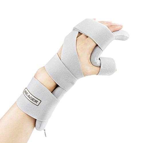 REAQER Stroke Resting Hand Splint Night Immobilizer Muscle Atrophy Rehabilitation in The Hands, Wrists and Fingers (Left)