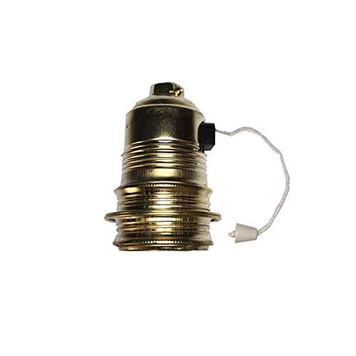 EDM 44109 Portalamparas con Interruptor Tirador Rosca Europea, Multicolor, E 27