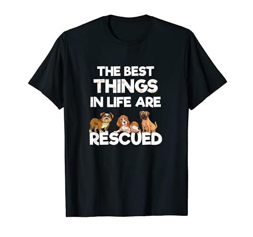 Las mejores cosas de la vida son rescatado amante de los Camiseta