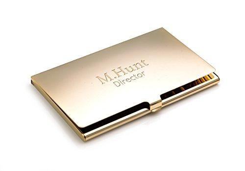 Soporte para Tarjetas de crédito/Negocios, Chapado en Oro, Personalizable