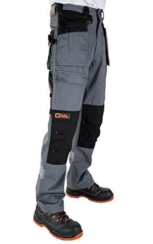 Black Hammer Pantaloni Cargo da Uomo Resistenti Multi Tasca PRO da Lavoro Tripla Cucitura con Rinforzi in Cordura Phenomenal Abbigliamento da Lavoro per Adulti Pantaloni (54 Corta)