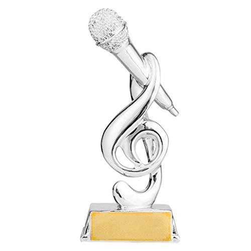 Sculptuur Trofeeën Zingen competitie trofee kampioen gastheer trofee gouden microfoon trofee woonkamer wijnkast decoratie handgemaakte, hars materiaal