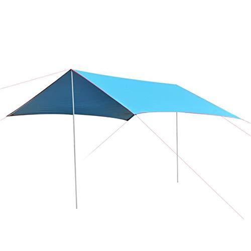 HO-TBO Tarp Shelter, 9.8x9.8 Voeten Draagbare Tarp Shelter Waterdichte Hangmat Regen Fly Tent Met Stakes Palen Touwen Overlevingsuitrusting Kit Voor Camping Backpacking Eenvoudig te installeren