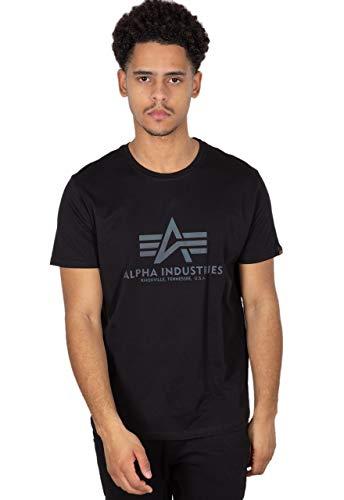 ALPHA INDUSTRIES Basic T Rainbow Ref. Camiseta, Black, XL para Hombre