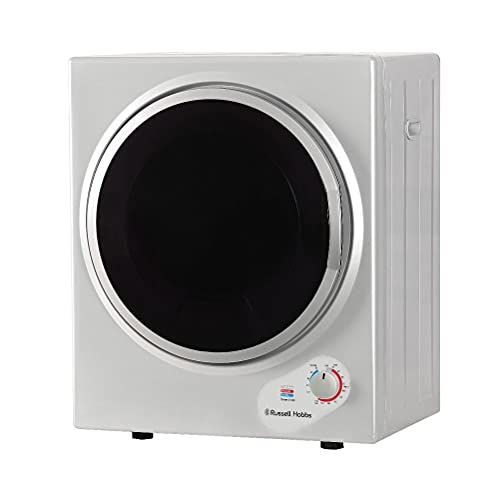 Russell Hobbs RH3VTD800S Silver 2.5kg Compact Mini Vented Tumble Dryer, Portable, Freestanding Table top Dryer with 3 Heat Settings small