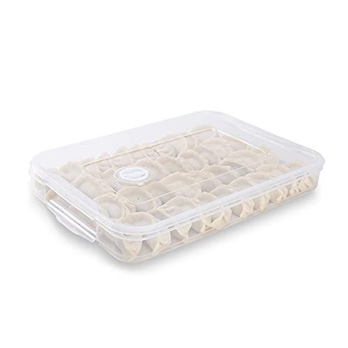 RoxNvm Contenitori impilabili per congelatore, Organizer per cassetti frigo, Contenitore per alimenti frigorifero con coperchio per conservare pesce, carne, verdure fresche, senza BPA