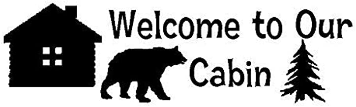 OutletBestSelling Stencil Welcome to Our Cabin Bear Tree Cabin for Signs