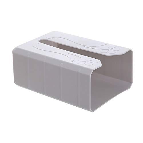 HNWNJ Sin Punch Pared WC Cocina de Papel Caja de Almacenamiento Caja de Bombeo de Pared Porta Papel higiénico Tejido de la Caja Puede sostener Bolsas de Basura (Color : Gray, Size : 19.5×13×8CM)