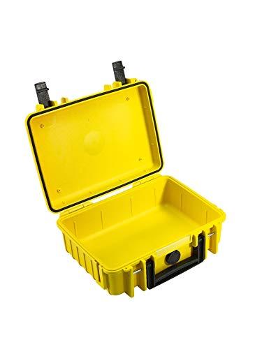 B&W Transportkoffer Outdoor Typ 1000 gelb - wasserdicht nach IP67 Zertifizierung, staubdicht, bruchsicher und unverwüstlich