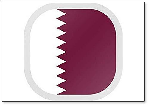 Kühlschrankmagnet, quadratisch, mit Flagge, Katar