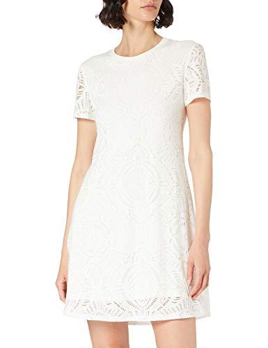 Desigual Vest_Nilo Vestido Casual, Blanco, L para Mujer