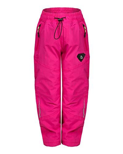 ZARMEXX Kinder Thermohose Jungen Mädchen Outdoor Trekking Herbst Winter Schneehose Skihose Wanderhose (pink1871, 116)