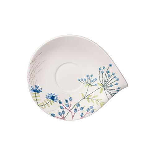 Villeroy & Boch Flow Couture Sous-tasse, 21x18 cm, Porcelaine Premium, Blanc/Multicolore