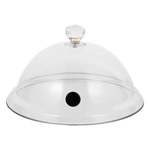 Doitool Cúpula para Fumar Campana de Vidrio para Fumar Campana de Visualización Cúpula Protector de Pantalla de Comida Tapa de Exhibición de Pastel de Bocadillo Transparente para Pan