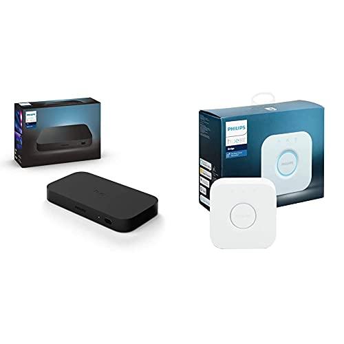Philips Hue Play HDMI Sync Box caja de sincronización para TV / PC y luces Philips Hue, 4k, Compatible con Alexa y Google Home, Incluye Puente Philips Hue