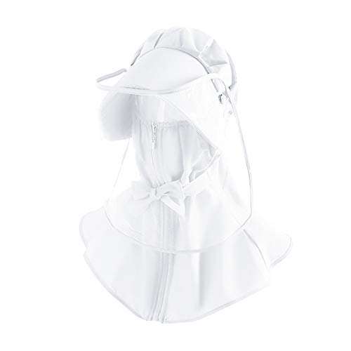 yinyinpu Visera Protectora para la Cara Protector Facial de plástico Ligero Cara Visor Transparente Cara Escudo De Cara Protectora Escudo Splash Tapa la Cara White,Adult