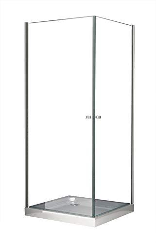 Duschkabine Deto 80 x 80 x 190 cm ohne Duschtasse