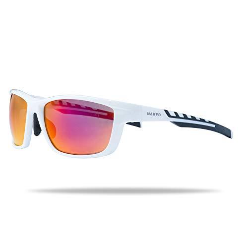 NAKED Optics Rush Fullframe White/Lens Red - Gafas de sol deportivas