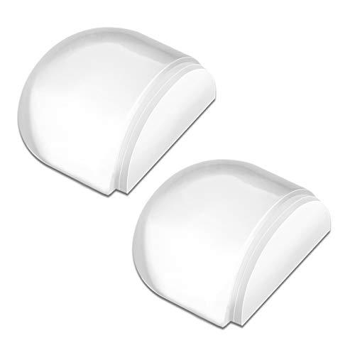HAUSPROFI Fermaporta Set di 2 fermaporta autoadesivi Fermaporta Cuscinetti per pareti da pavimento per la protezione di pareti e mobili - Trasparente