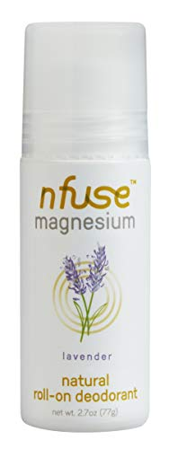 nfuse Natural Magnesium Roll-on Deodorant - Innovative Patented Magnesium Technology - Ultra Nourishing - Aromatherapeutic Essential Oils - Lavender: Relax + Restore