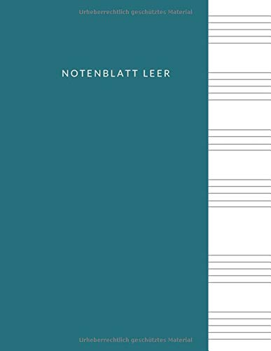 Notenblatt leer: Leeres Notenblatt Papier, Notenblatt Leer Klavier