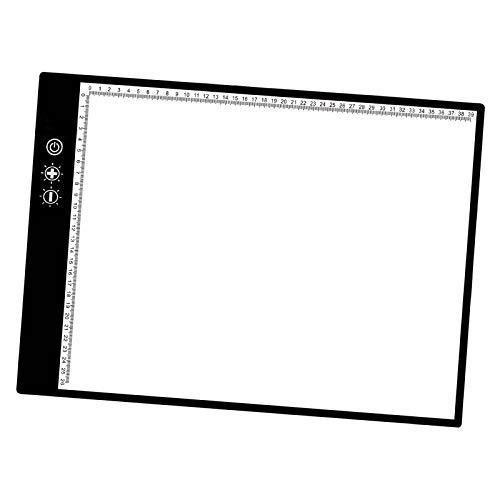 Hellery A3 atenuación continua caja de luz LED Tracer dibujo copia tablero Tatoo almohadilla, 3 niveles de atenuación