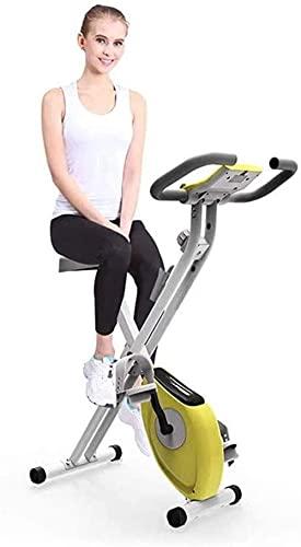 Bicicleta estática Bicicleta estática electromagnética Equipo de Fitness Interior Plegable Entrenador Vertical Fijo y Entrenador Plegable para Ejercicios