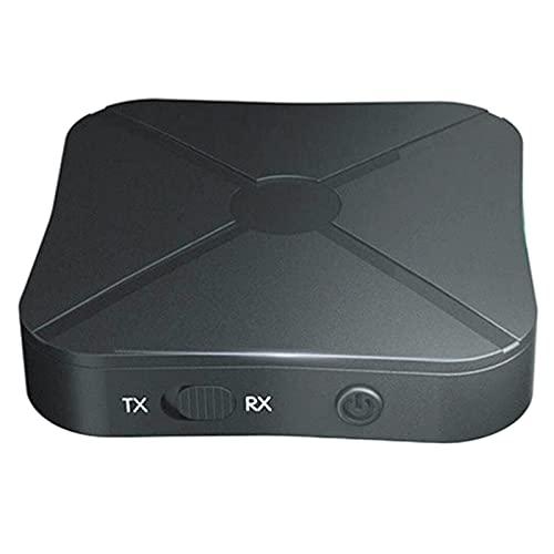 Luckxing 2 En 1 Adaptador Bluetooth Portátil Receptor Inalámbrico Bluetooth Transmisor De Audio Inalámbrico Bluetooth para TV/PC/Cascos/Estéreo Hogar/Coche
