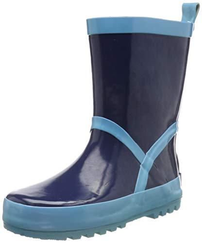Playshoes Pluie Classic, Bottes en Caoutchouc Naturel Garçon Unisex Kinder, Bleu (Marine/Hellblau 639), 22/23 EU