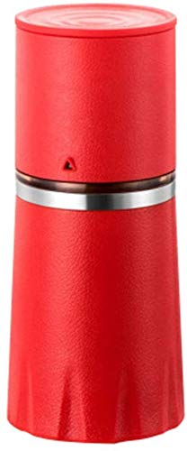 kaige Tragbare manuelle Kaffeemühle, Kaffeemaschine Kaffeemühle Cup for die Reise Camping Amt (rot) WKY